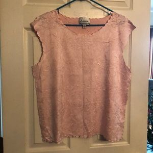 Linea by Louis Dell'Olio XL pink shell tank shirt